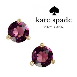 JUST IN🔶️ Kate Spade Rise & Shine Amethyst Studs